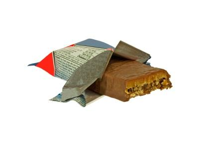 protein bar in wrapper