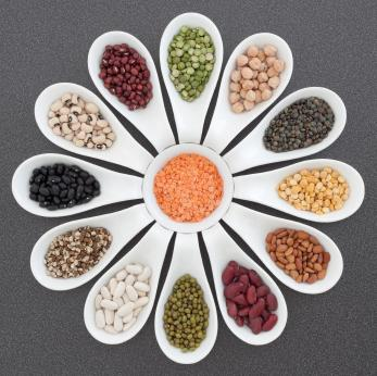 Selection of dried legumes