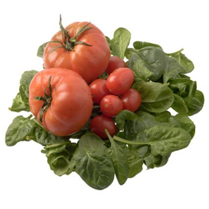 Iron-rich tomatoes and spinach