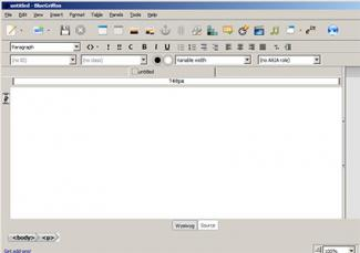 Screenshot of BlueGriffon software