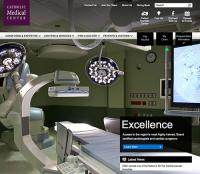 Screenshot of Catholic Medical Center website