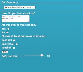 HTML form 4