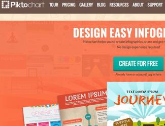 Piktochart homepage