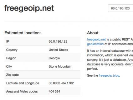 Freegeoip.net