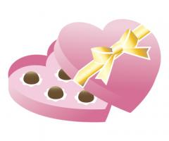 Valentine Clip Art 3 chocolates