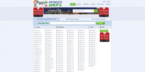 Screenshot of Browser Shots