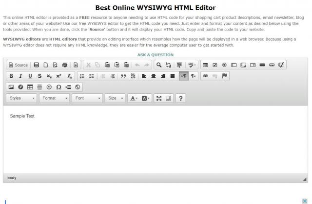 Screenshot of Best Online HTML Editor
