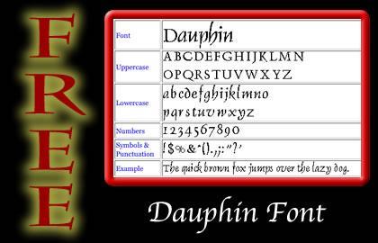 Free Dauphin Font