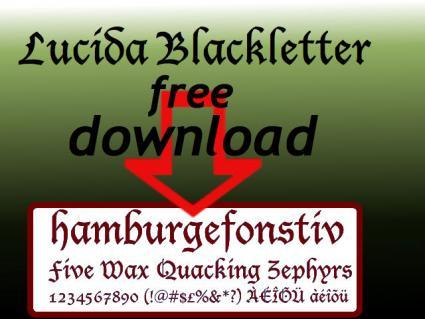 Free Lucida Blackletter Font
