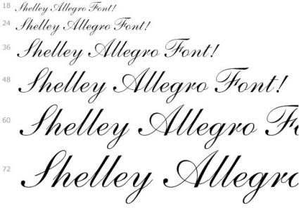 Shelley Allegro Free Fonts