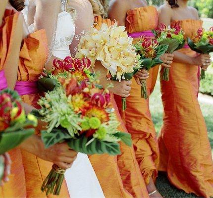 Burnt Orange Bridesmaid Dresses Slideshow