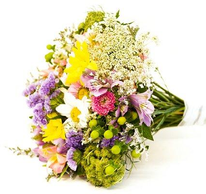 bouquet on the morning of their wedding Summer Wedding Bouquets