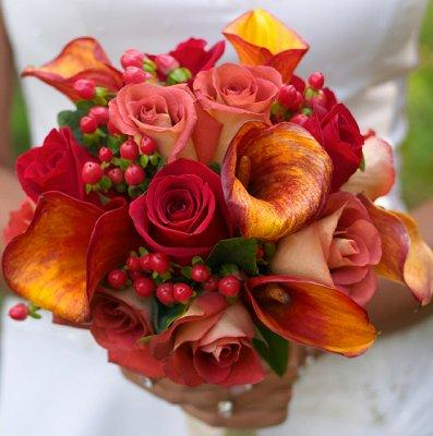 wedding autumn fall flowers decorations