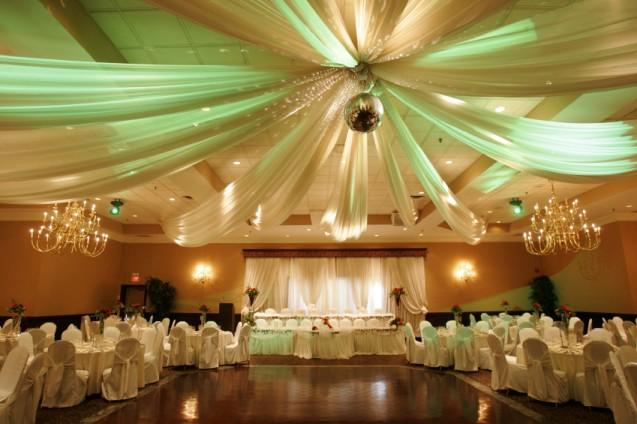 Photos of wedding reception decorations slideshow for Hall decoration images