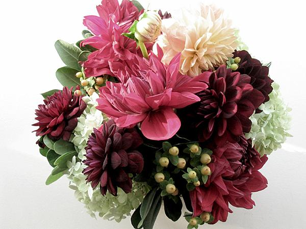 Pink And Burgundy Bouquet