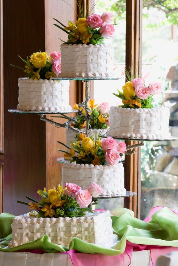Wedding Cake Design Ideas wedding cakes decorating ideas Basketweave Cake