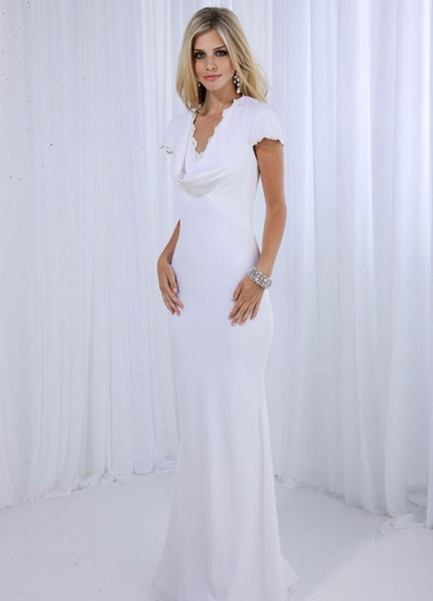 Informal second wedding dress pictures slideshow for Dresses for renewal of wedding vows