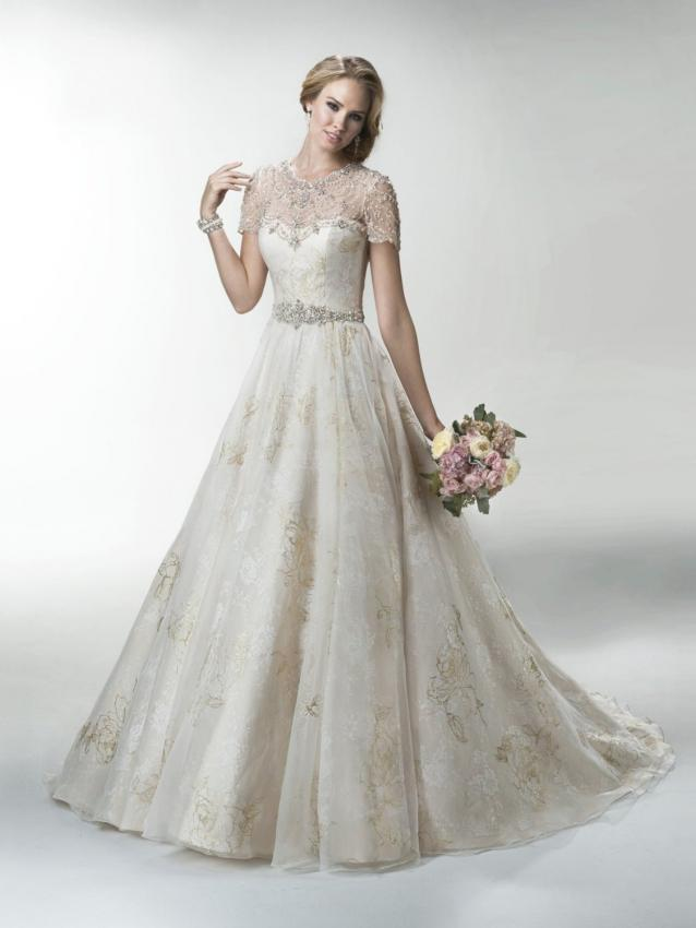 Pictures of wedding dresses with sweetheart necklines lovetoknow gold lace appliqued sweetheart neckline a line bridal wedding dress junglespirit Gallery