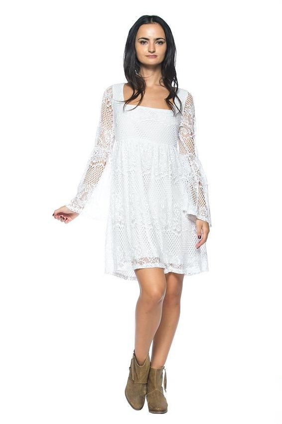 Hippy style wedding dresses slideshow for Loose fitting wedding dresses
