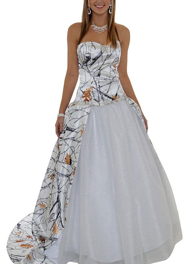 Camo wedding dresses slideshow for Wedding dresses camouflage pink