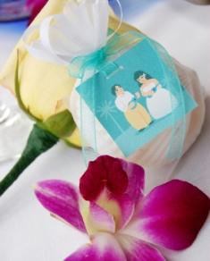 Beach wedding favor bags
