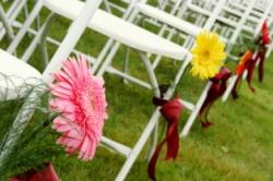 daisy aisle decorations