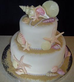 smooth seashell cake