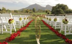 outdoor wedding ceremony aisle