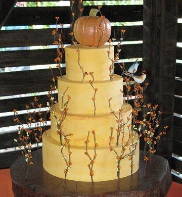 Pumpkin harvest cake