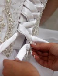 corset wedding dress