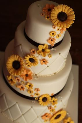 There are also logistical concerns with using fresh flowers on your cake