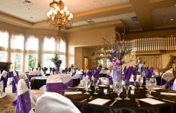 Purple Flower Centerpieces for Summer Weddings