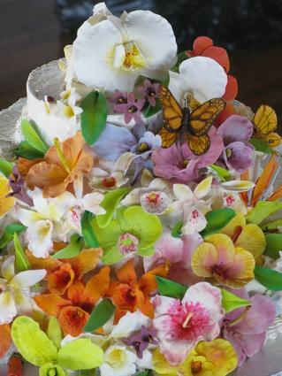 Garden wedding cake ideas for Garden wedding cake designs
