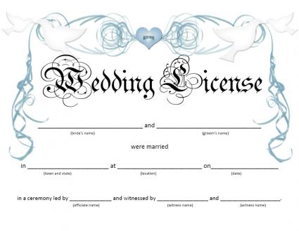 wedding license
