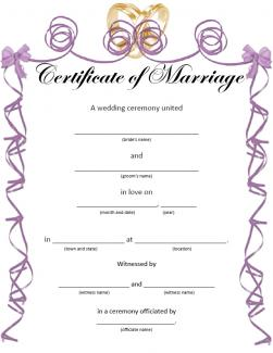 marriage certificate template .