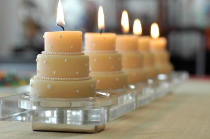 wedding cake candles