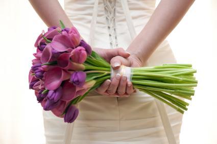 Tulip and calla lily bridal bouquet