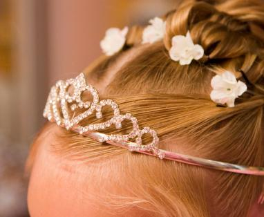 Flower girl with tiara
