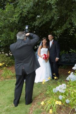 wedding photographer taking photo