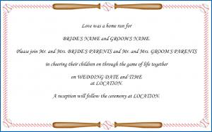 baseball wedding invitation