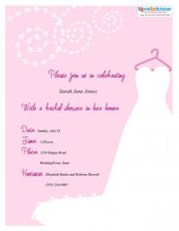 Pink bridal shower invitation