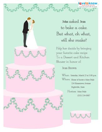wording for bridal shower invitations, invitation samples