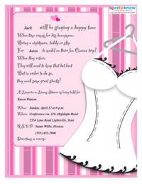 corset bridal shower invitation