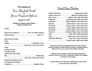 traditional wedding program template