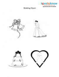 black and white wedding clip art