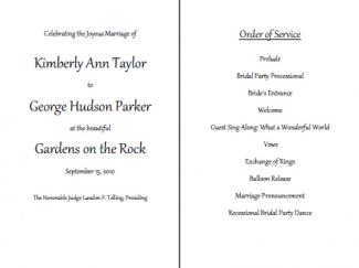 Lovely Wedding Order Of Service Template  Order Of Service Template Free