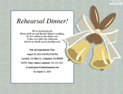 Wedding Rehearsal Dinner Invitations – Free Dinner Invitation