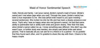 MOH sentimental speech