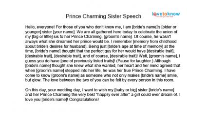 Maid of honor speech examples alisen berde for Eulogy template for brother