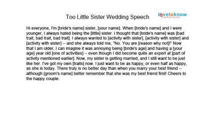 Maid of Honor Speeches for Sisters – Speech Examples